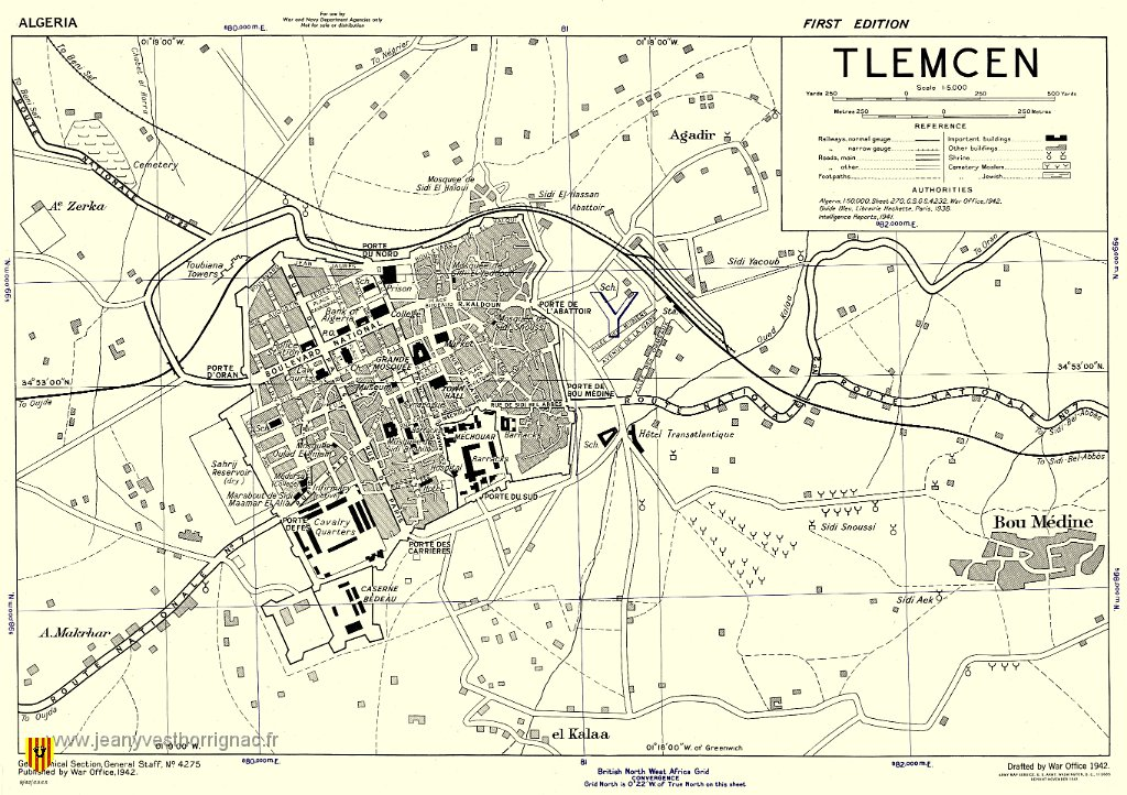 Algerie ma memoire albumoranie villes et villages d oranie for Plan tlemcen