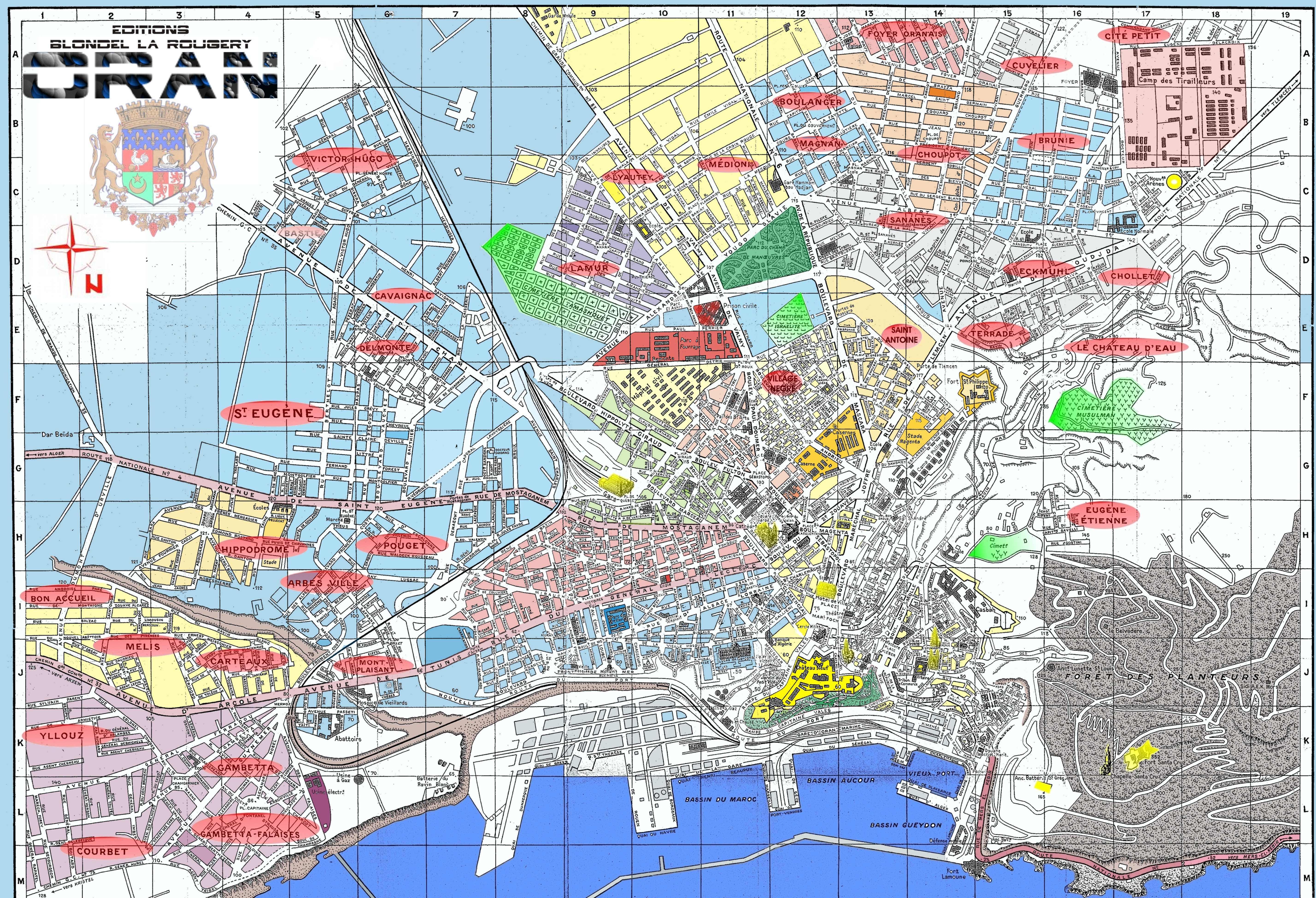 Les quartiers d 39 oran for Plan tlemcen